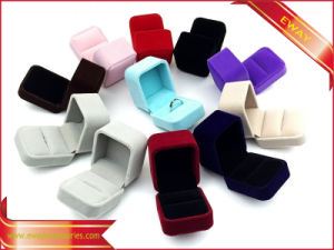 Luxury Velvet Earring Box Jewelry Velvet Packing Box pictures & photos