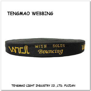50mm Yellow Words Jacquard Polyester Webbing pictures & photos