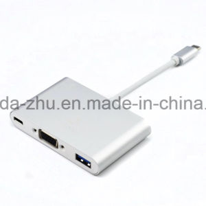 USB Type C to Ga F Dongle Adapter Data Cable Connector pictures & photos