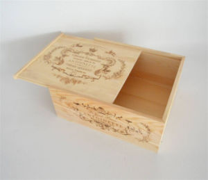 Factory Price Wooden Box/ Unfinished Wooden Box/ Wooden Storage Box with Logo Engraved pictures & photos