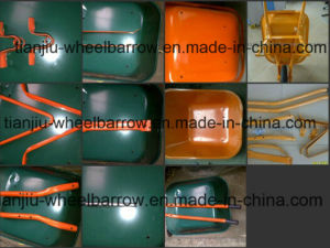 Metal Tray, Pneumatic Wheelbarrow Wb6200 Garden, Construction, Industrial Purpose, Hot Products in Africa Market Such as Nigeria pictures & photos