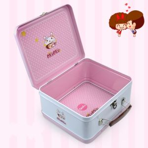 Candy and Chocolate Tin Box with Handle pictures & photos