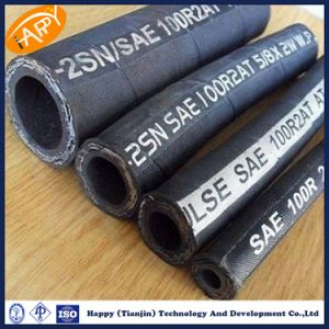 En856 2sn Hydraulic Flexible Rubber Hose for Oil Conveying R2 Hose pictures & photos