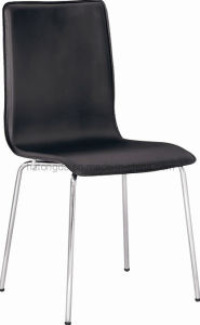 Leather Effect Chrome Stiletto Framed Side Chair (TDC-170)