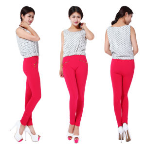 Popular Women′s Multicolor Elastic Seamless Zippers Render Female Height of Leggings