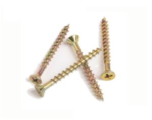 DIN7505 Flat Head Chipboard Screws with Zinc Finished Carbon Steel