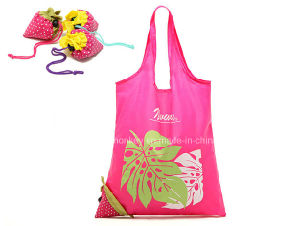Eco-Friendly 190t Polyester Foldable Reusable Strawberry Folding Bag pictures & photos