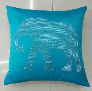Hand-Made Decorative Pillow Diamond Ironing Decorative Cushion Elephant Cushion (XPL-54) pictures & photos