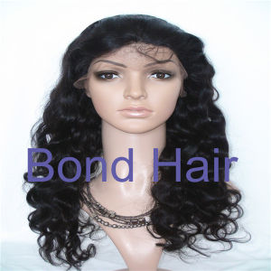 Fashion Peruvian Hair Bodywave Full Lace Wigs pictures & photos