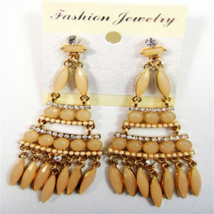New Item Glass Beads Stones Fashion Jewelry Earrings pictures & photos