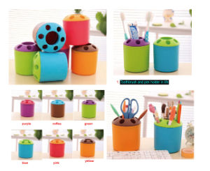 Color Plastic Toothbrush and Pen Holder in Life pictures & photos
