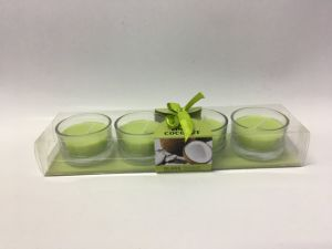 Coconut Green Scented Tea Light Candle in Glass Jar pictures & photos