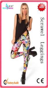 The New Fashion Style Print Pattern Leggings Pants Women (SR-2004)