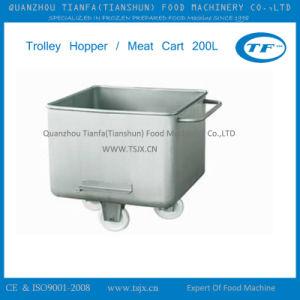 Stainless Steel Meat Hopper Trolley
