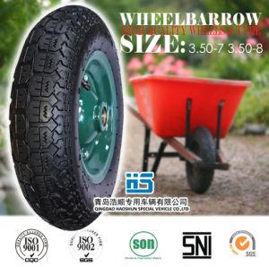 Rubber Wheel Carretilla Neumatico Wheelbarrow Wheel Wheelbarrow Tyre Tube 3.50-7 3.50-8 pictures & photos