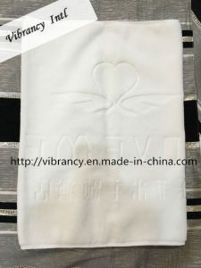 High Quality Custom Logo 100% Cotton Hotel Bath Foot Towel pictures & photos