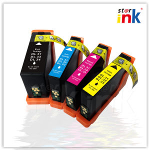Compatible Ink Cartridges for DELL 31/32/33/34 Bk/C/M/Yseries with Chip