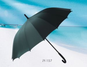 Auto Open 16k Pongee Straight Umbrella (JY-157) pictures & photos