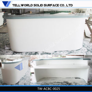 SGS Certificate Acrylic Solid Surface White Bar Counter (TW-033) pictures & photos