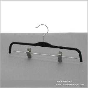 Wholesale Extension Skirt Plastic Hanger Metal Clips, Plastic Pants Hanger pictures & photos