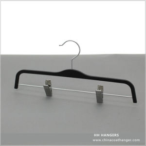 Wholesale Extension Skirt Plastic Hanger with Different Style Metal Clips pictures & photos