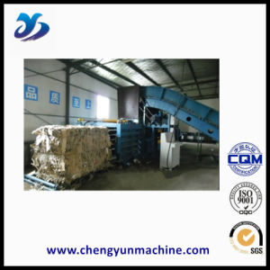 Horizontal Baler with Conveyor for Cardboard and Plastic Recycling pictures & photos