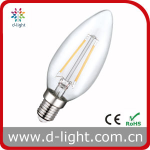 C35 2W E14 All Glass LED Candle Filament Bulb pictures & photos