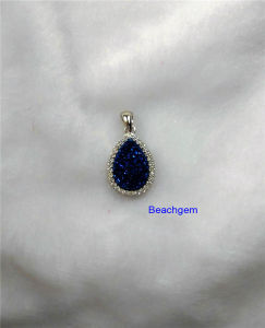 Jewellery-Natural Druzy Sterling Silver Pendant (P1287) pictures & photos