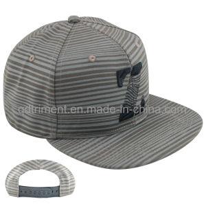Leisure Screen Print Flat Bill Snapback Cap Hat (TMFL6431) pictures & photos