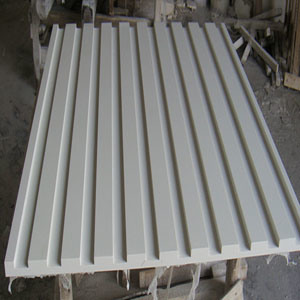 White Artificial Stone Grooved