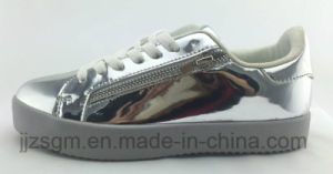 Fashion Skate Casual Shoes for Women / Mirror PU pictures & photos