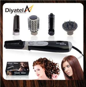 Hot Air Brush Multi Hair Styler 4 In1 Rotating Brush (DY-913)