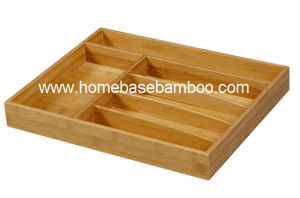 Eco-Friendly Bamboo Drawer Tabletop Flatware Cutlery Tray Organizers Hb2251 pictures & photos