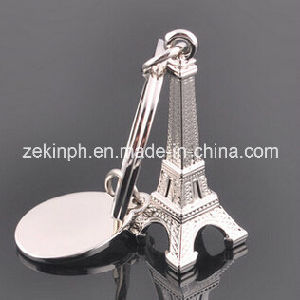 Metal 3D Eiffel Tower Keychain pictures & photos