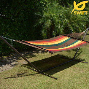Polyester Rope Hammock in Multi Color with Hammock Stand
