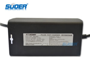 Suoer Hot Sale 3A Battery Charger 48V Pulse Fast Battery Charger for Electric Vehicle with Three-Phase Charging Mode (SON-4803) pictures & photos