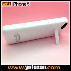 2200mAh Extended Back up Power Bank Mobile Battery Stand Case for iPhone 5 5s pictures & photos