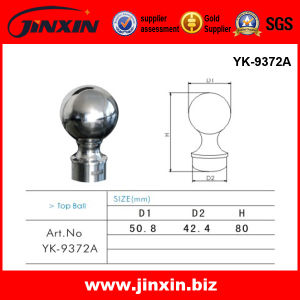 Railing Accessory - Jinxin Handrail Hardware Top Ball (YK-9372A)