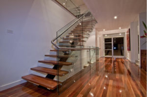 L-Shaped Staircase Metal Staircase pictures & photos