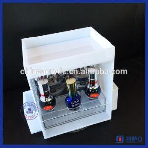 Wholesale White Acrylic Nail Polish Makeup Organizer Cosmetic Storage pictures & photos