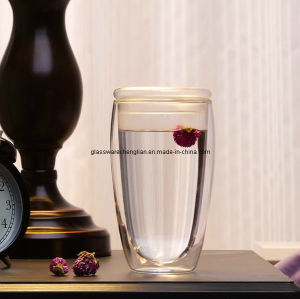 Double Wall Tumbler Glass Cup (B-DBW25) pictures & photos