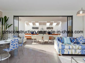 Aluminum Commercial Heavy Duty Large Triple Tempered Glass Sliding Door pictures & photos