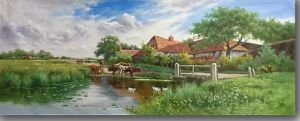 Oil Painting of Village Scenery pictures & photos