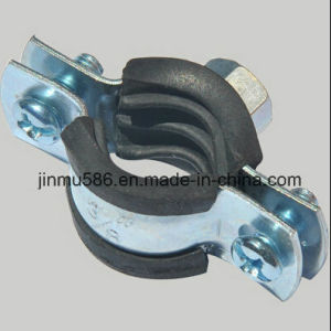 Pipe Clamps /Heavy Pipe Clamp with Rubber (3/8′′) pictures & photos