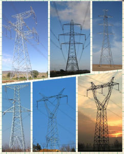 Double Circuits Angle Transmission Tower