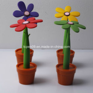 Sunflower Plant Silicon Ball Pen with Customized Logo Tc-F01