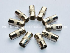 Coaxial Adapter PAL Female to F Male Connector (WD20A-018) pictures & photos