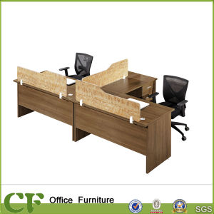 L Shape 2 Person Office Workstation With Space Devider