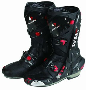 Black Motorcycle Boots (HF-B1003)