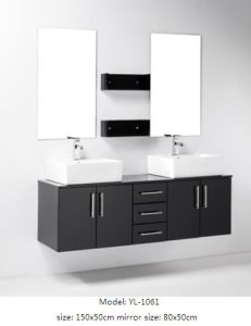 Sanitary Ware Double Sink Hotel Furniture with Mirror pictures & photos